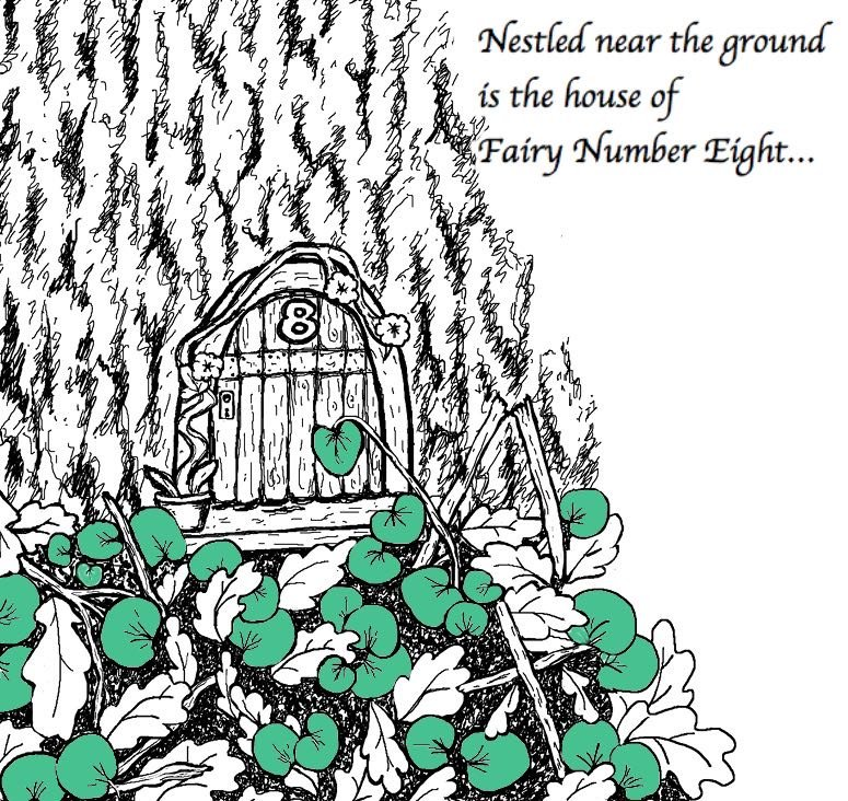 Page From Rabbitswood Fairy House Colouring Book by Heidi Piercy
